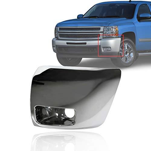 08 silverado chrome bumper cap - 1