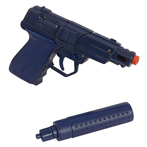 HTI Toys Swat Mission Die-cast Metal Cap Gun Pistol With Silencer | Great Fun For Adults Kids Boys & Girls Role Playing Toy Guns - 2 Assorted Colours (Blue / Red)
