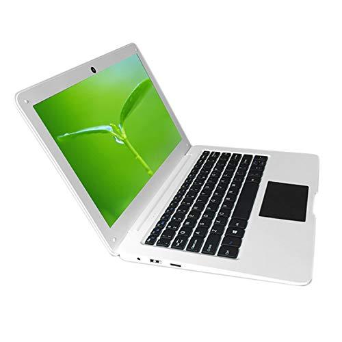 Fanuse N3350 Blanco 10.1 Pulgadas Quad-Core Win10 System 4G + 64GB Netbook Laptop Adecuado para Viajes Diarios de Estudio de Oficina (Enchufe de la UE)