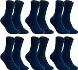 RS. Harmony Socken ohne Gummidruck für Herren, aus Baumwolle, 6 Paar, Farbe marine, 43-46