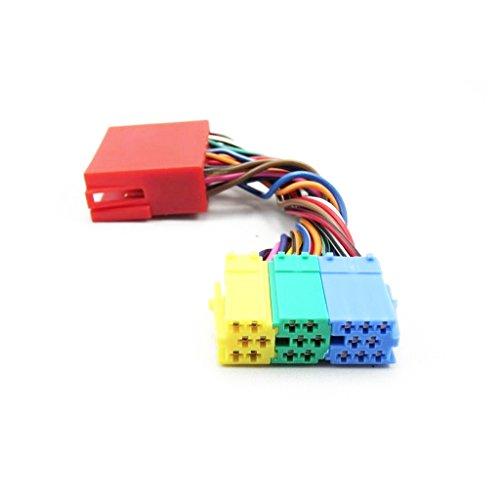 PETSOLA Distribuidor de 20 Pines Cable Adaptador ISO Navigation Plus Conector MCD Rojo Verde