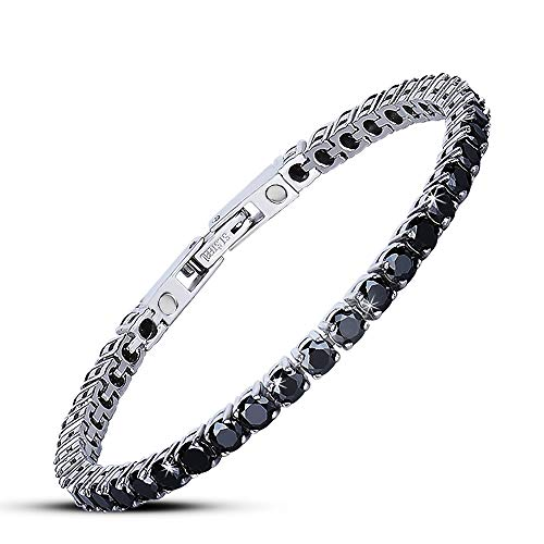Jeroot Magnetic Bracelet Women,Beauty Therapy Titanium Steel Magnetic Bracelets Pain Relief Bracelets Magnetic (Black)