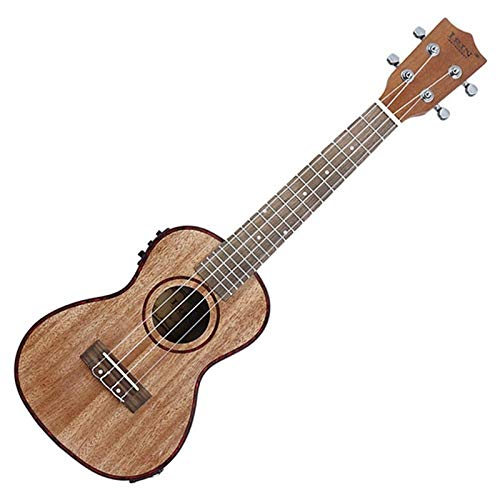 Ukelele Ukelele Electroacústico De 24 Pulgadas, Borde De Concha De Abulón, 18 Trastes, Cuatro Cuerdas, Guitarra Hawaii Con Pastilla De Ecualización Incorporada