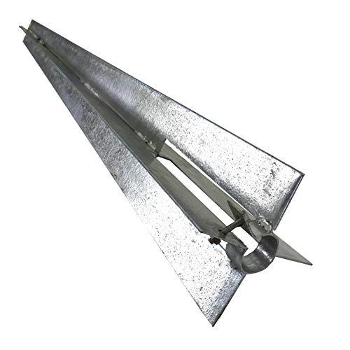 Bodenhülse Einschlaghülse Ø 34 mm Pfostenträger 50 cm für Zaunpfosten Gartenzaun