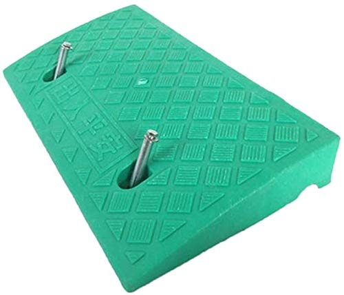 DJSMsnj Rampas de invierno impermeables multifunción, almohadilla de umbral, triángulo, se puede fijar rampas de servicio doméstico fáciles de transportar (color: verde)
