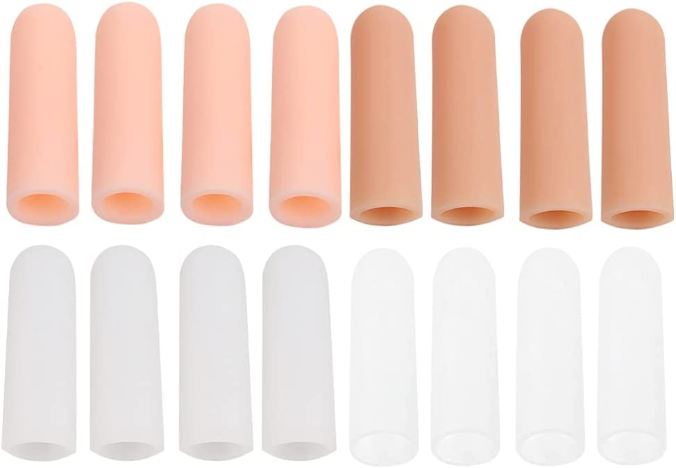 Beaupretty 8 Pairs Finger All items free shipping Max 86% OFF Cots Breathable Sleeves Support Protec