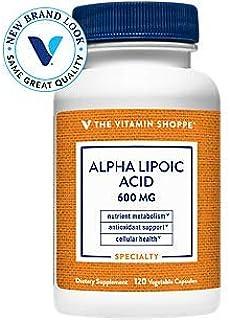 Alpha Lipoic Acid 600mg, Natural Antioxidant Formula to Support Glucose Metabolism Promotes Healthy Blood Sugar, ALA Defen...