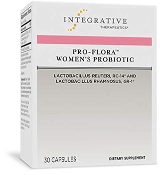 Integrative Therapeutics Pro-Flora Women s Probiotic - Lactobacillus Rhamnosus GR-1 and Reuteri RC-14 Strains - Urogenital and Vaginal Health Support Supplement* - 30 Capsules