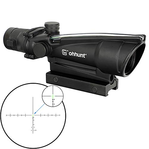 ohhunt 3.5X35 Rifle Scopes Fiber Illuminated Tactical Hunting Optics Sights (Green Crosshair Reticle)
