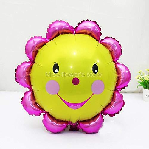 1 Jaar Bal - 1 Stks glimlach Zonnebloemen Vorm Folie Ballon Kids Baby Douche Verjaardag Feest Bruiloft Decoratie - Feest Emoji Ballon Party Ballon Diamond Supplies Mesh Favor Ballon Kroonvogel