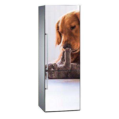 Oedim Vinilo para Frigorífico Perro y Gato | 185 x 70 cm | Adhesivo Resistente y de Fácil Aplicación | Pegatina Adhesiva Decorativa de Diseño Elegante
