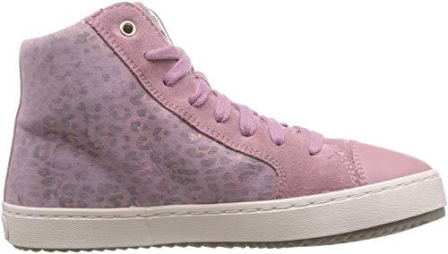 Geox Mädchen J Kalispera Girl D Hohe Sneaker, Pink (Dk Pink C8006), 35 EU