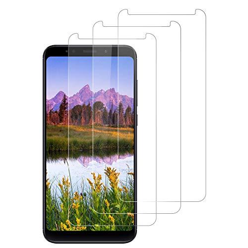 DOSNTO Protector de Pantalla para Xiaomi Redmi 5 Plus, 3-Pack Cristal Vidrio Templado Premium Xiaomi Redmi 5 Plus [Anti-Arañazos][Sin Burbujas ] [Kit Fácil de Instalar] [Dureza 9H] [Funda Compatible]