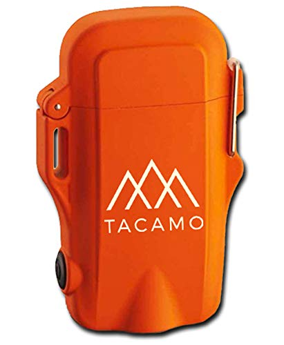 TACAMO H2 Dual-Head Flameless Tesla Plasma ARC Lighter, with Integrated LED Flashlight. Free High-Visibility SurvivorCord Ranger Pace Beads Lanyard Included. Water-Resistant, USB Rechargeable.