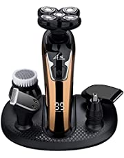 Electric Razors for Men Cordless Rechargeable, Head Shavers for Bald Men, 6 in 1 Grooming Kit, Shaving Machine with Charging Station, by Sceafunny