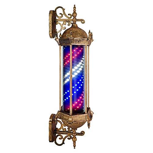 Barber Stick Light Ball Led Barber Pole Peluquería Salón Luz Letrero Tradicional Blanco Azul Iluminadoras Giratorias Con Letrero Led Lámpara De Pared De Luz 90cm / 35in, B