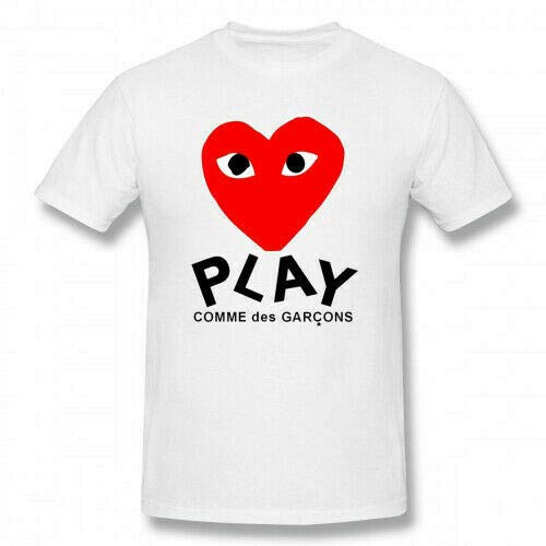 Mens comme des Garcon Play Cotton Short Sleeve T Shirt Tee,L