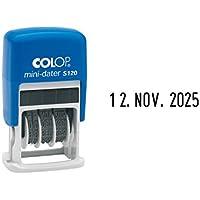 Colop MiniDater S 120 1452000200 - Sello para fechas (19 x 4 mm, tampón negro) [Importado de Alemania]