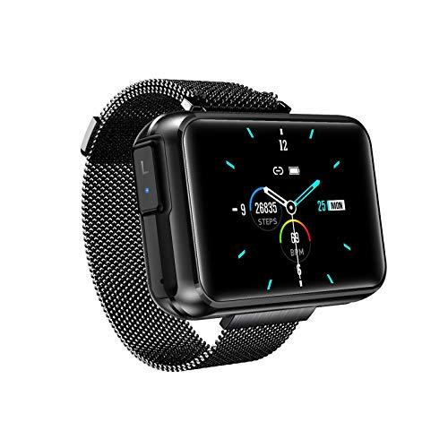 JIAJBG Smart Watch, Pantalla Grande de 1.4 Pulgadas Diy Fondo de Pantalla Bluetooth Música Bluetooth Dos en Uno Tws Bluetooth Auriculares Bluetooth Recordatorio Inteligente Exquisit