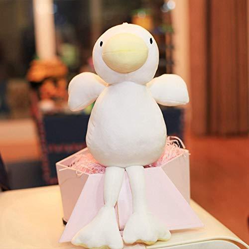 N / A Algodón Relleno bebé Pato calmante niños Lindo Pato Blanco Juguetes de Peluche niños Almohadas Suaves Hermosos Regalos de cumpleaños de Navidad 40 cm