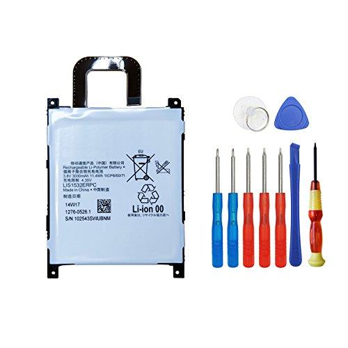 swark batería lis1532erpc para Sony Xperia Z1, L39U Replacement, Repair Tool Kit