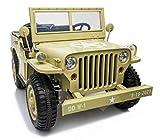 Indalchess Jeep Desert Fox, Jeep de Willy, 4 Motores DE 12V, eva, Cuero, RC 2.4ghz, 3 Asientos. LI-JH-101D