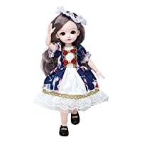 23柔軟なジョイントbjdガール人形3D目ライトと音ソフト髪服靴素敵なおもちゃギフト - を