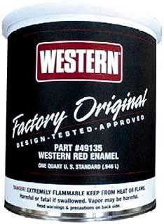 49135 Western Snow Plows 1 Quart of Red Enamel Paint