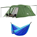 AYAMAYA Camping Tent for 6-8 Person and Double Person Hammock
