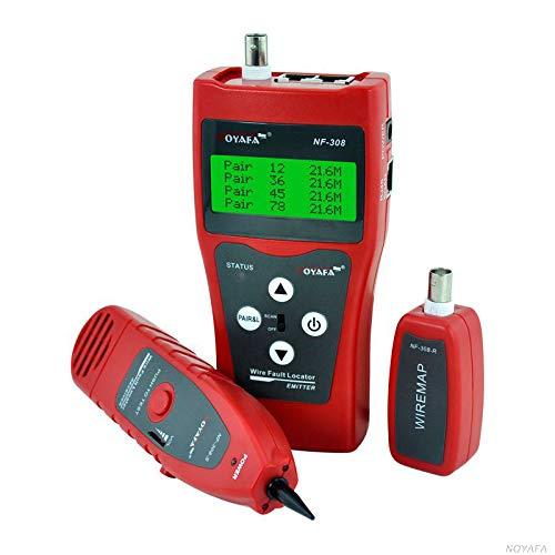 Noyafa NF-308 Telefontester mit LCD-Display, Mehrzweck-Kabel, Kabellänge, Scanner, RJ45 11