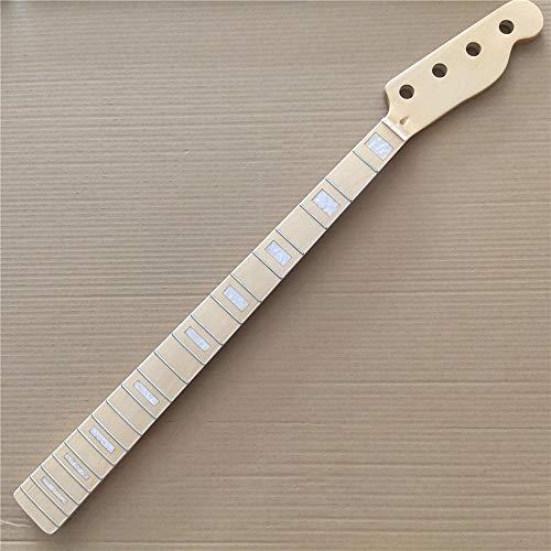 chushi Gloss Maple Bass Guitar Cuello de la Guitarra 20 Fret Maple Fingerboard 4 String TL Bass Guitar Cock Parts Reemplazo Zzib
