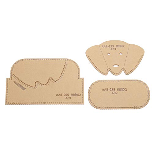 Acryl-Vorlagen, Acryl-Vorlagen für Leder, 3 Stück für Geldbörse Handbuch DIY Portfolio Leder Handwerk