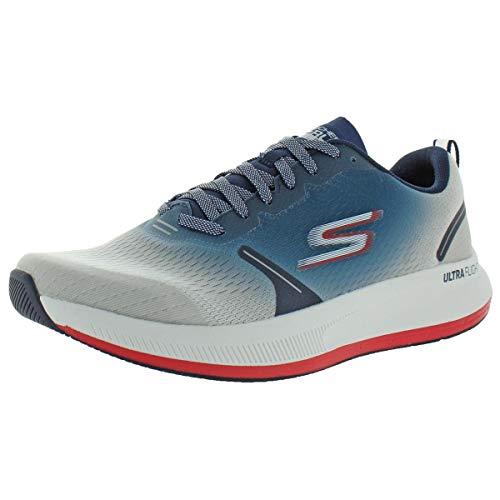 Skechers mens Go Run Pulse - Performance Running & Walking Shoe Sneaker, White/Multi, 10.5 US