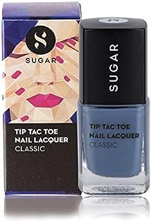 SUGAR Cosmetics Tip Tac Toe Nail Lacquer 015 Seal The Slate (Blue Grey) 10 ml