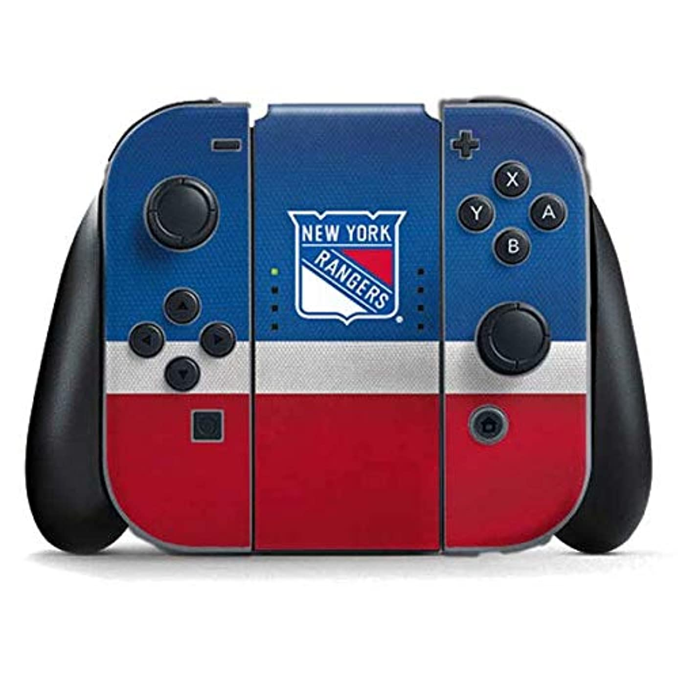 Skinit New York Rangers Jersey Nintendo Switch Joy Con Controller Skin - Officially Licensed NHL Gaming Decal - Ultra Thin, Lightweight Vinyl Decal Protection