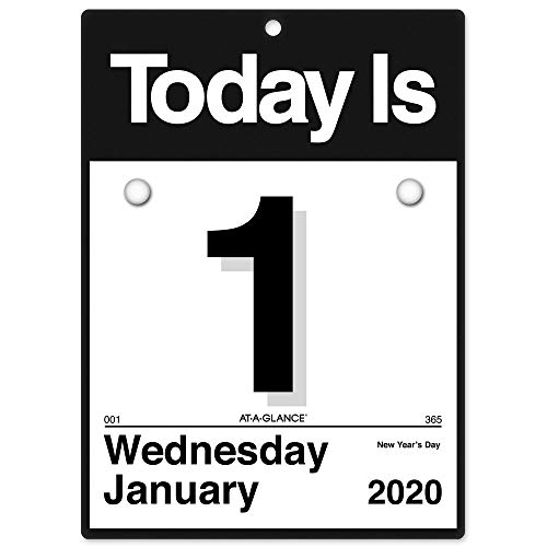AT-A-GLANCE 2020 Daily Wall Calendar Refill, 6' x 6', Mini, One Page Per Day,'Today is' Design (K1-50)