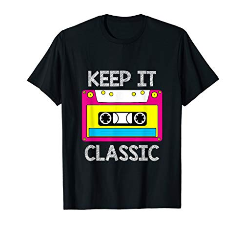 Keep It Classic Neon Cassette T-shirt for Adults, Kids, 5 Colors