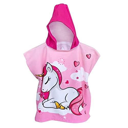 MMTX Unicorno Asciugamano Poncho da Bambino per Spiaggia Bagno Doccia Nuotare Piscina...