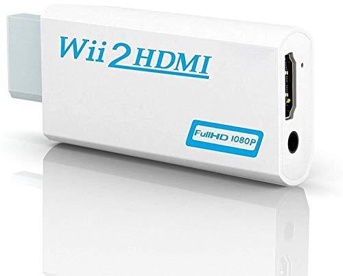YiYunTE Wii zu HDMI Adapter Wii to HDMI Konverter 720P 1080P HD Wii2HDMI Converter Wii an HDMI mit 3,5mm Audioausgang Wii Konsole Adapter für Monitor TV Beamer Fernseher
