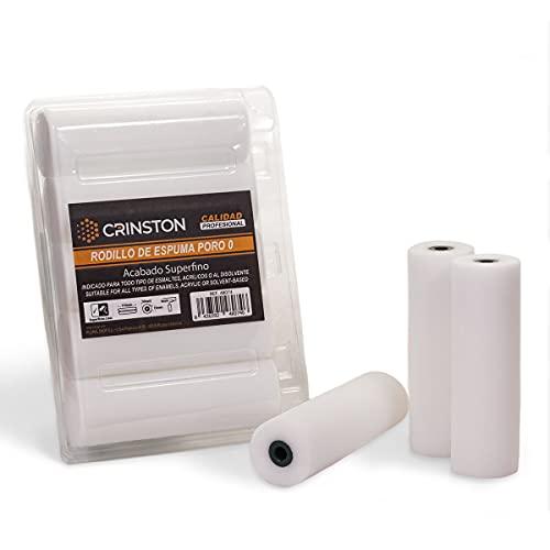 CRINSTON - Ersatzrollen aus Schaumstoff, 11 cm, sehr fein, porig, 0 – Profi-Qualität (10 Stück)