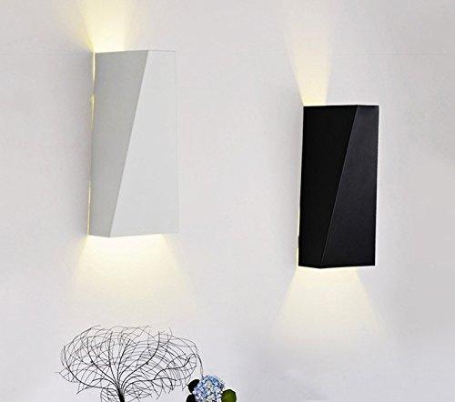 5151BuyWorld LED in de vrije wandlamp Surface Mounted Cube Light [wit/zwart naar boven en beneden