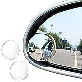 JTDEAL Blind Spot espejo (2pcs, 2'), Rimless HD cristal gran angular 360 ° canvex espejo retrovisor de coche lado espejo Stick de coche universal Fit