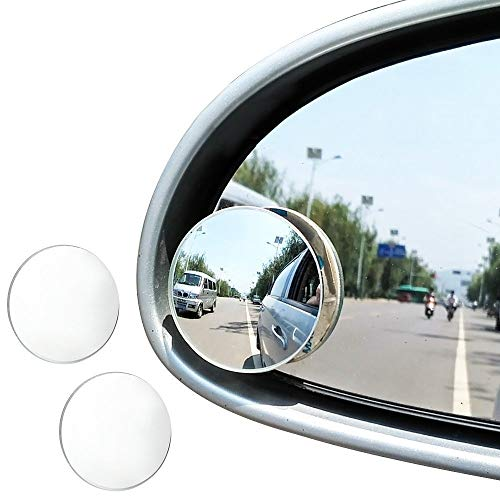 """JTDEAL Blind Spot espejo (2pcs, 2""""), Rimless HD cristal gran angular 360 ° canvex espejo retrovisor de coche lado espejo Stick de coche universal Fit"""