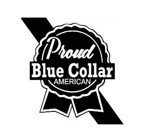Check Custom Design Proud Blue Collar American Decal