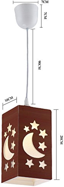 GYP LED Hngelicht, Intention Ehre Skulptur Star Star Moon Ryo Hngende Licht Kinder Lampe Exit PVC Plastik Hngeleuchte Esszimmer Lampe 100  100  200 Mm Hauptsitz E 27 Hhenverstellbar ( Farbe   Braun )