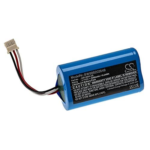 vhbw Batería Recargable reemplaza Altec Lansing INR18650-2S para Altavoces, Cajas acústicas, bafles (5200 mAh, 3,7 V, Li-Ion)
