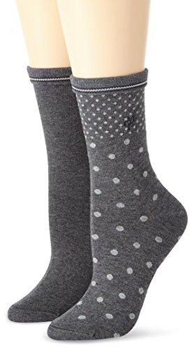 Marc O'Polo Body & Beach Marla Socks Women (2-pack) Damen, Grau (grau-mel. 202), 39/42 (Herstellergröße: 403)
