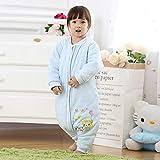 Baby-Wickelschlafsack 0-24 Monate, geteiltes Bein, Trittsicher, Babyschlafsack, abnehmbarer Ärmel, Kinder-Babydecke Schlafsack für Kinderwagen