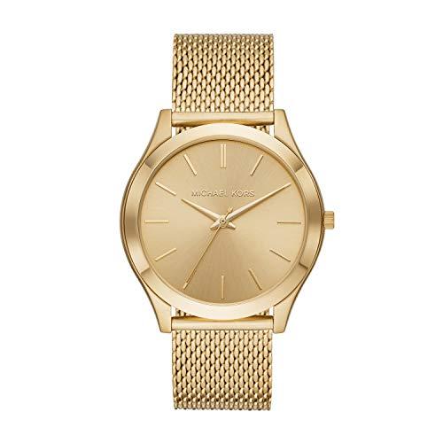 Michael Kors Men's Slim Runway Quartz Stainless-Steel Strap, Gold, 21.9 Casual Watch (Model: MK8625)
