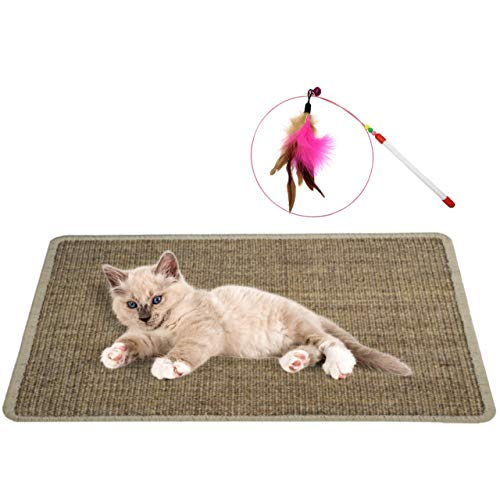 """Zooli Natural Sisal Cat Scratch Mat 235"""" x 16"""" 